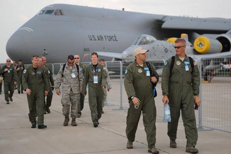 Militares estadounidenes en un aeropuerto. Fuente: ITAR-TASS