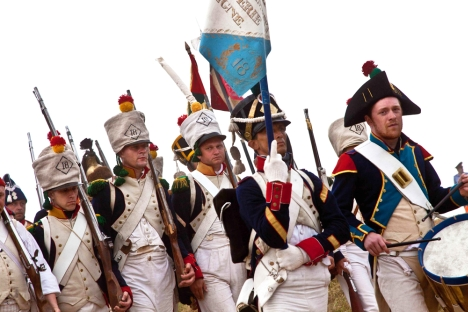 La reconstrucción de la batalla de Borodino en conmemoración de su 200 aniversario. Fuente: Olga Lisinova / RG.