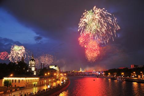 21 plazas engalanadas para la fiesta, docenas y docenas de conciertos. Fuente: ITAR-TASS