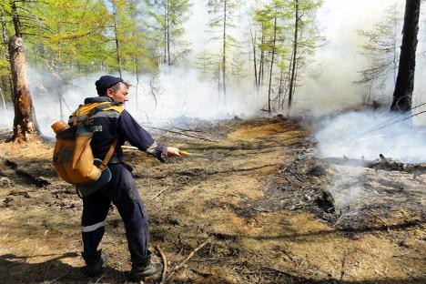 Todos los veranos Rusia se ve afectada de incendios de diversa intensidad. Fuente: Itar Tass.
