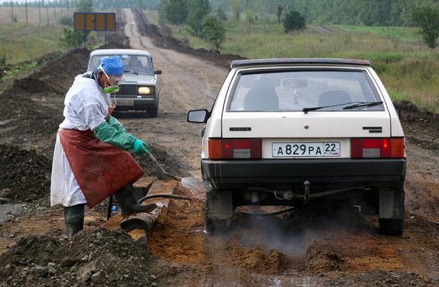 Desinfección. Fuente: Alexandr Kryazhev / RIA Novosti