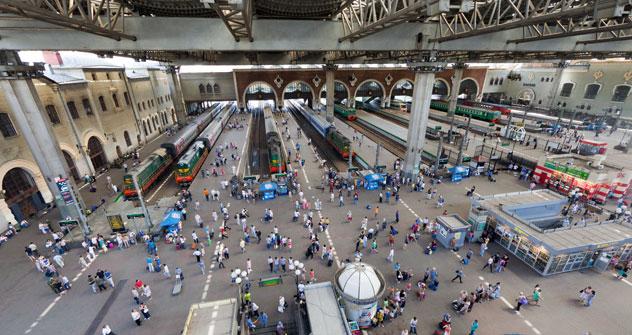 Estación de Kazán en Moscú. Fuente: Itar Tass.