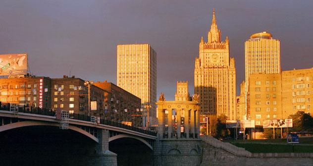 Edificio del Ministerio de Asuntos Exteriores en Moscú. Fuente: Itar Tass.