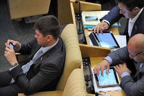 La diplomacia se había trasladado a las pantallas táctiles. Fuente: kommersant