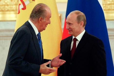 Vladímir Putin con Juan Carlos en el Kremlin. Fuente: Reuters / Vosock-photo.