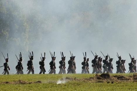 La batalla de Borodinó. Fuente: Serguei Kuksin