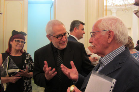 Ángel Gutierrez con Ignacio Amestoy y Esperanda D'ors. Fuente: Yolanda Delgado