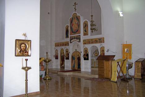 Interior del templo del Patriarcado de Moscú en Barcelona. Fuente: Maite Montroi