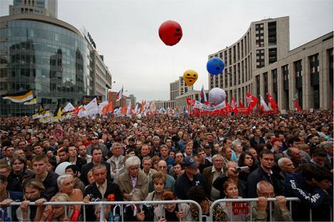 Una nueva manifestación en Moscú. Fuente: Ricardo Marquina Montañana.