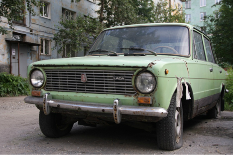 """Lada"" en Murmansk. Fuente: Alberto Caspani"