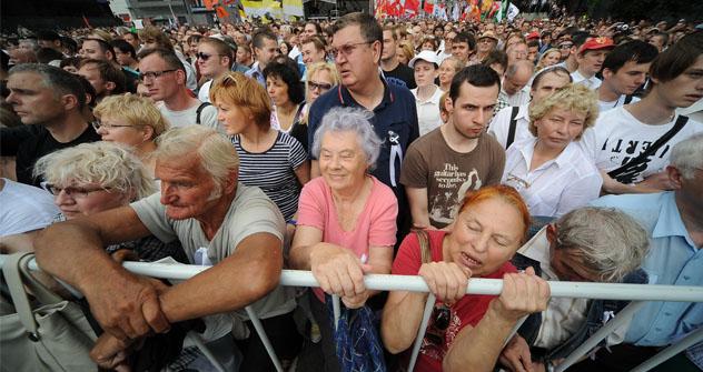 Tampoco han faltado las críticas de la ley sobre manifestaciones y organizaciones no gubernamentales. Fuente: ITAR-TASS