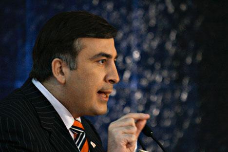 El presidente de Georgia, Mijaíl Shaakashvili. Fuente: RIA Novosti.