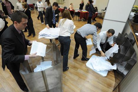 El domingo se eligieron los gobernadores regionales y numerosos alcaldes. Fuente: RIA Novosti / Alexey Fillipov.