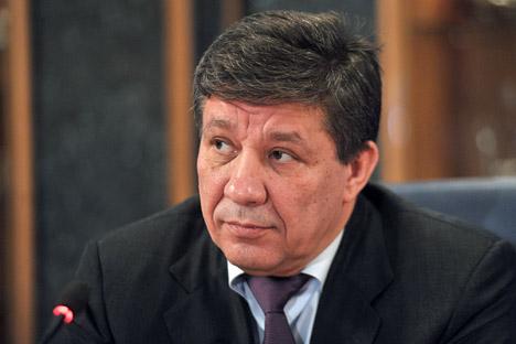 Vladímir Popovkin, director de  Roskosmos. Fuente: Artem Zhitenev / RIA.