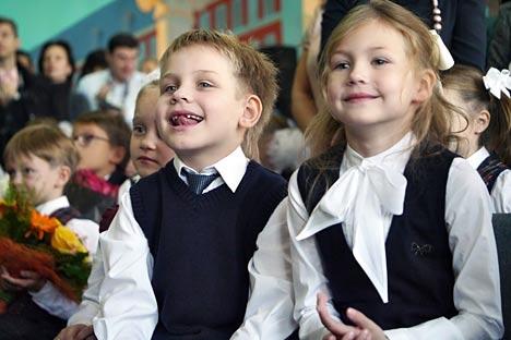 El colegio №1252 es uno de los tres primeros centros educativos en Moscú donde empezaron a estudiar español como segundo idioma. Fuente: Kommersant.