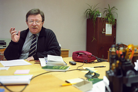 Vladímir  Petujov, director del Instituto de Sociología de la Academia de las Ciencias de Rusia. Fuente: Kommersant.