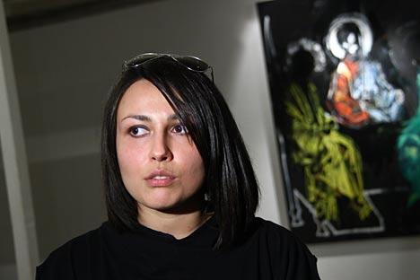 La pintora Evguenia Máltseva. Fuente: ITAR-TASS.