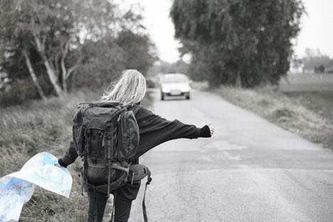 La nueva época dorada del autostop no está cerca de la Ruta 66 o Main Street America sino en las largas carreteras solitarias de Rusia. Fuente: LegionMedia.