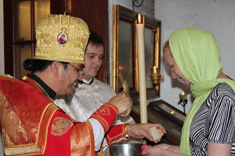 La iglesia, que no recibe financiación alguna del patriarcado de Moscú ni pide limosna. Fuente: Amparo Rodríguez.