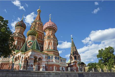 El templo situado en la Plaza Roja es uno de los símbolos más famosos de Rusia. Fuente: William Brumfield.