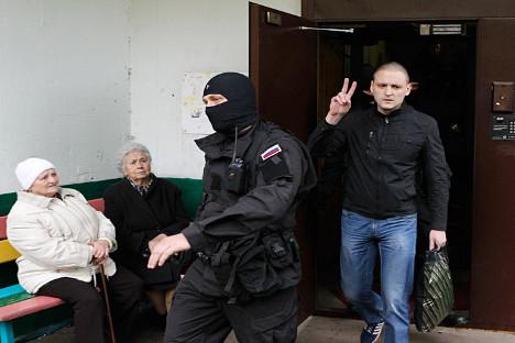 Em prisão domiciliar, Udaltsov continua negando envolvimento com líder georgiano Foto: Vostock Photo