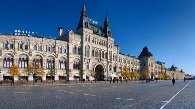 El edificio GUM de la plaza Roja de Moscú. Fuente: ITAR-TASS.
