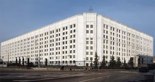 El Ministerio de Defensa. Fuente: Anton Denisov / RIA.