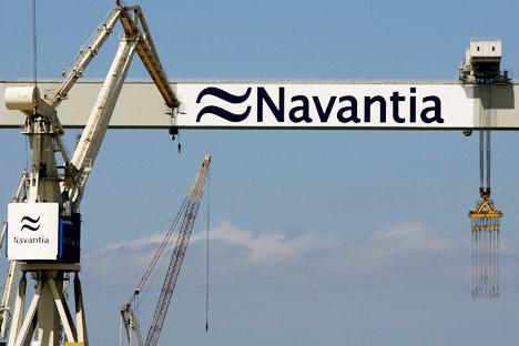 La corporación estatal Rosoboronexport y la sociedad constructora naval española Navantia firman un acuerdo de cooperación. Fuente: AFP / EastNews