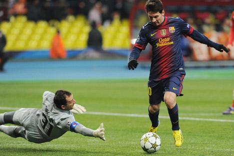 Messi domina el Spartak. Fuente: Alexey Filippov / RIA Novosti