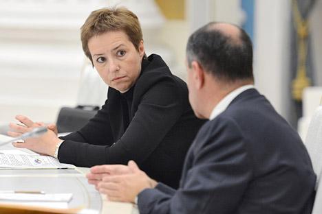 Olga Dergunova, la jefa de La Agencia Federal de Gestión de la Propiedad Estatal de Rusia. Fuente: Kommersant