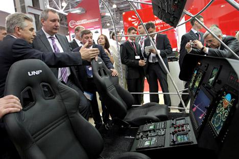 El grupo empresarial 'Vertolioti Rossii' muestra sus novedades en el recinto ferial Expocuba. Fuente: Sergey Mamontov / RIA