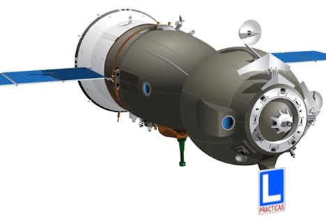 Un auténtico Soyuz TMA de autoescuela. Fuente: propia a partir de un dibujo vectorial de Paco Arnau