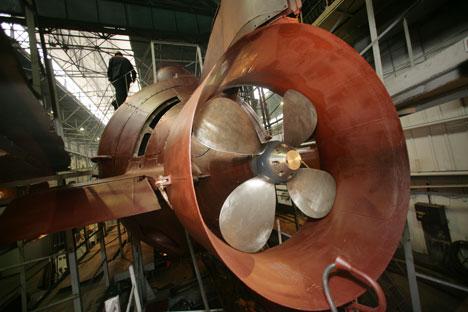 """Las hélices del submarino """"Losharik"""". Fuente: ITAR-TASS"""