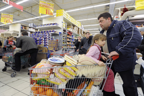 La inflación no hace a los rusos escatimar en gastos. Fuente: ITAR-TASS