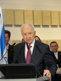 El presidente israelí Shimon Peres. Fuente: Emmanuel Grynszpan
