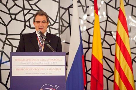 Artur Mas estuvo presente en la capital junto a más cien empresas, con el objetivo de estrechar las relaciones . Fuente: Ricardo Marquina Montañana