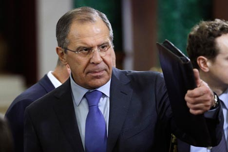 Lavrov tem esperança nas negociações futuras com os EUA, embora admita cautela Foto: AP