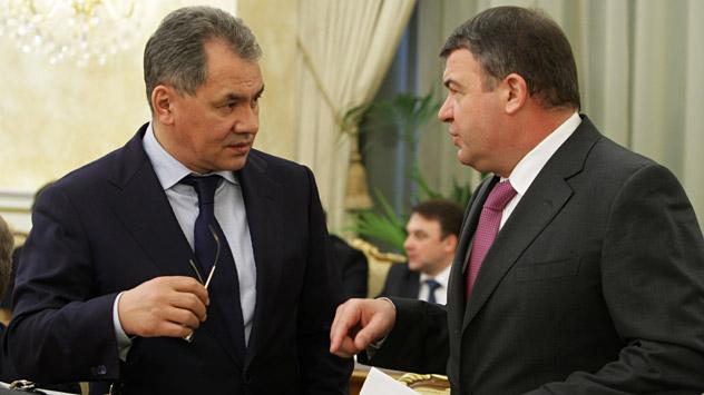 Vladímir Putin nombra a Serguéi Shoigu para el nuevo cargo. Fuente: Aleksei Nikolski / RIA