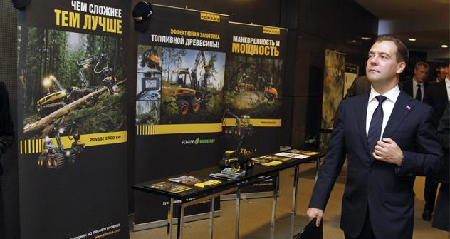 El primer ministro Dmitri Medvédev concedió una entrevista a los medios finlandeses antes de la visita al país escandinavo. Fuente: RIA