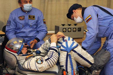 En Rusia, los sueldos de los tripulantes del espacio están a años luz de los salarios que perciben sus homólogos norteamericanos. Fuente: AFP / Eastnews