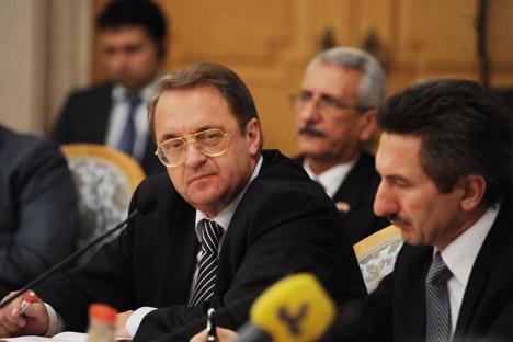 Según numerosos medios occidentales, el viceministro Mijaíl Bogdánov habría hecho una serie de declaraciones sobre el régimen sirio. Fuente: ITAR-TASS