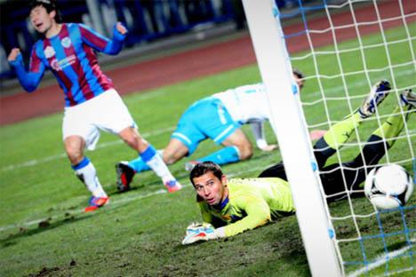 Imagen del partido Volga-Zenit de la jornada 15. Fuente: rfpl.ru