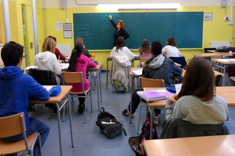 Un instituto público de Salou es el único de España en el que se imparte ruso. Fuente: Maite Montroi