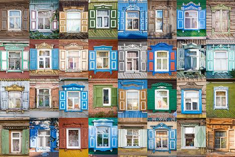 El proyecto de Iván Jafizov, nalichniki.com recoge miles de fotos por toda Rusia de adornos de madera tallada alrededor de las ventanas. Fuente: Iván Jafizov