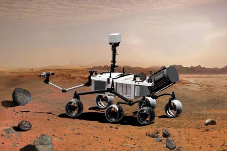 El 'Curiosity' es un laboratorio andante que llegó a Marte en agosto. Fuente: NASA.