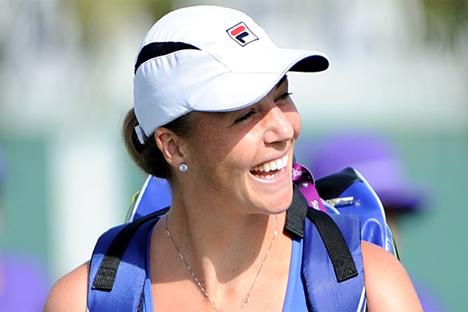 La tenista rusa Alysa Kleibanova anunció en 2011 que padecía cáncer. Fuente: 10sworld.com