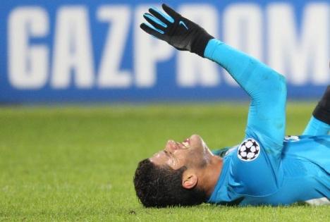 El brasileño Hulk, el fichaje más caro de la historia del fútbol ruso, lleva sólo 4 goles en 15 partidos. Fuente: fc-zenit.ru