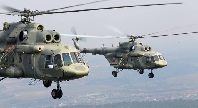 Rosoboronexport había alcanzado un acuerdo para la venta de helicópteros rusos que iban a ser utilizados en Afganistán. Fuente: Alexéi Kudenko/RIA