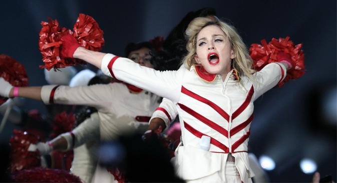 Concierto de Madonna en San Petersburgo. Fuente: ITAR-TASS