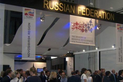 Stand de la Federación de Rusia en el Barcelona Meeting Point. Foto de Maite Montroi.